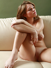 Sexy babe licking herself on feet and toes