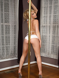 Sarah Peachez' Works a Pole
