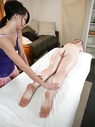 Talia Shepard massages Lily Lovejoys until she cums