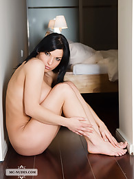 Racy Daria exposes her voluptuous breasts, fine curves and sparkling eyes. We would what you would like to do with her.