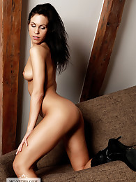 Petite Jenny exposes her extraordinary and fully naked body on the couch. We'll bet you like to see how she tries hard.
