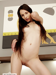 Sportive Elvira is an inhibited young model who likes to be nude. Join her end enjoy her young and sensitive curves.