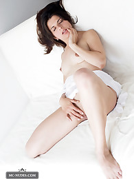 Julia is angelic looking babe with a great smile. Julia's pale skin is like velvet and a her overall appearance is a pure turn on for those who love cute girls.