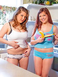 Tessa & kelly in the kitchen