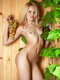 Stunning nude blonde model Talia