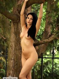 Kat gets nude outdoors